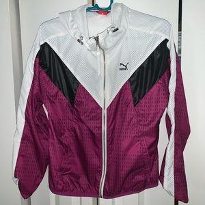 Women's Hooded PUMA windbreaker jacket size L
